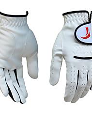 TTYGJ Men's Cabretta Leather White Golf Gloves - 1 Piece