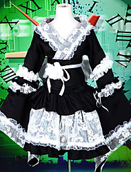 Outfits / Maid Suits Sweet Lolita Lolita Cosplay Lolita Dress Black Patchwork / Color Block Long Sleeve LolitaTop / Dress / Armlet /