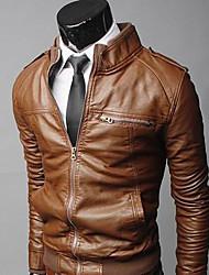 stile invernale moda maschile coton comodo cappotto pu