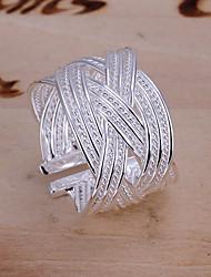 moda malha de diamante anel de cor sólida