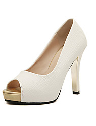 Youth Women's Chunky Heel Peep Toe Pumps