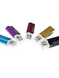4-en-1 USB 2.0 Lecteur de cartes MS/M2/SD/MicroSD carte (couleurs assorties)