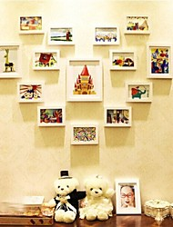 White Photo Frame Collection Set of 14