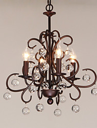 K9 Crystal Chandelier, 4 Light, Stylish Dainty Iron Painting