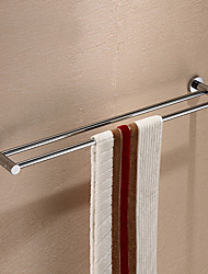 Silver Brass 24 inch Double Towel Bar