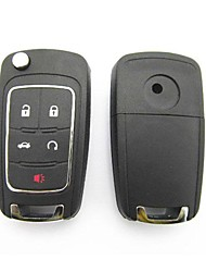 5-Button Remote Flip Key Case for Buick