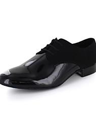 Мужская кожа Верхняя Современная танцевальная обувь оксфорды с кружевом окон