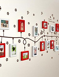 2 colori Photo Frame Set di 17 con Wall Sticker 36