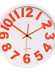 "11.8 ""Cadre Blanc Rouge Figure Gras Horloge murale Muet"