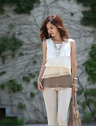Women's Fashionable Sleeveless Chiffon Ruffles Vest