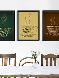 Abstract Coffee Cup Framed Canvas Juego de 3