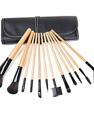 12PCS Makeup Brushes Cosméticos Sobrancelha Lip Eyeshadow Brushes Set com o processo
