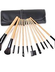 12PCS Makeup Brushes Cosméticos Sobrancelha Lip Eyeshadow Brushes Set com o processo