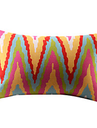 Modern Raised Gain Cotton/Linen Decorative Pillow Cover