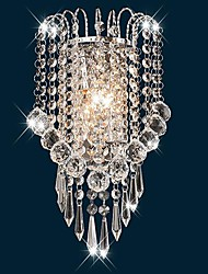 Crystal Wall Sconces , Modern/Contemporary E12/E14 Metal
