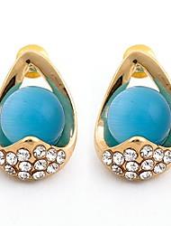 Europe Musées Noble Eleagnt genstone Boucles d'oreilles des femmes (bleu)