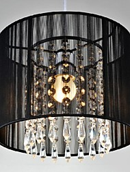 40W Pendant Light ,  Modern/Contemporary Chrome Feature for Crystal / LED Metal Bedroom / Dining Room