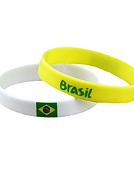 Bracelet unisexe 2014 Brésil Coupe du Monde Souvenir silicone (2PCS)