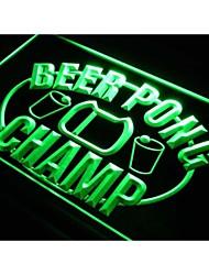 j931 Beer Pong Champ Bar Pub Luz Neon Sign