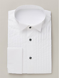 White Cotton Solid Shirts