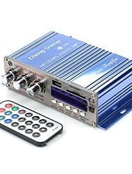 AT9008 DC12V 80W 2 canaux graves / aigus Amplificateur Hi-Fi embarquée avec port USB SD FM MP3