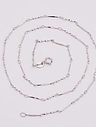 como 925 joyas de plata de 40 cm de pieza retorcida cadena hebilla