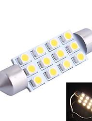 42mm 3W 150LM 3000K 12x3528 SMD Warm White LED für Auto-Lesen / Kfz-Kennzeichen / Türleuchte (DC12V, 1Stk)