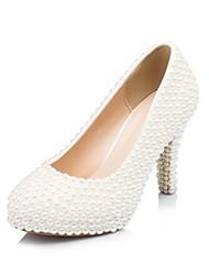 Mujer Zapatos de boda Tacones/Plataforma/Punta Redonda Tacones Boda/Fiesta y Noche Blanco