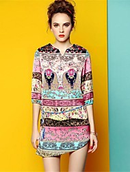 2014 Nuovi Maiusc stile elegante tunica vestito le donne