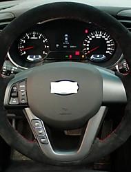 Cubierta del volante Xuji ™ Negro Suede para Kia K5 2011 2012 2013