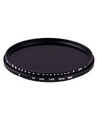 New  62mm Slim Fader Variable ND Filter Adjustable ND2 to ND400 Neutral Density Free shipping