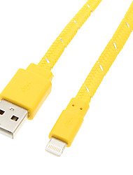 USB 2.0 a 8 pines Cable Teje (100cm amarillo)