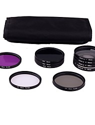 58mm 10pcs UV Kit CPL FILTRE FLD ND2/4/8 pour Canon Rebel T2i T4i T3i T3 T2 T1i XTi XS 550D 600D 1100D