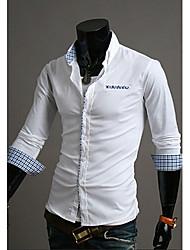 Glory Shirt Collar Long Sleeve Contrast Color Plaid Pattern Shirt