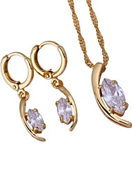 Women's18K Gold Plating Necklace / Earrings Jewelry Set  (1Set)