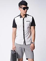Тонкий кармане рубашки Мужская Мода Досуг рубашка блузка