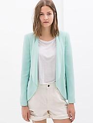 Zipper Couleur Loisirs solides Suit Qianyijia femmes