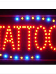 """led007-r Tattoo Shop OPEN LED Negocio luz de neón de 13 """"x 9"""""""