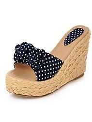 Zapatos de mujer - Tacón Cuña - Cuñas / Tacones / Punta Abierta / Chancla - Sandalias - Vestido / Casual / Fiesta y Noche - Semicuero -