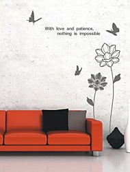 Botanical Love And Peace Wall Stickers