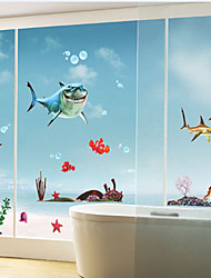 requin sticker mural motif (1pcs)
