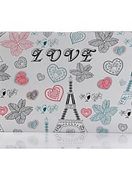 Cartoon Tour Eiffel Patterns Coque de protection en plastique dur Folio pour Macbook Air 13 ""
