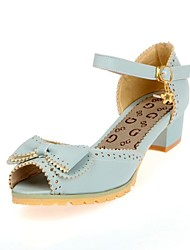 Women's  Chunky  Heel PeepToe Sandals Shoes with Bowknot (More Colors)