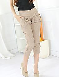 Pantalones flacos de los cultivos de las mujeres Karabearni K8032