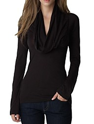 Women's Cowl Long Sleeve T-shirt