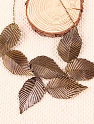 vendimia de la mujer exagerada hojas modelo collar corto n24