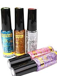 5PCS Pailletten Mixs Farben-Nagellack (15 ml)