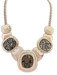 Angelasex Metal Flashing Literary Temperament Necklace (Coffee)