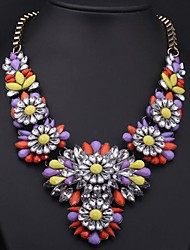 Women's Color Crystal Gemstone Necklace