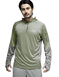 Amadís Hombre Oscuro Verde + Gris Poliéster manga larga Anti-UV Pesca con capucha